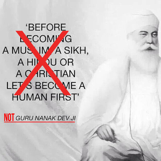 Guru Nanak didn't say this!